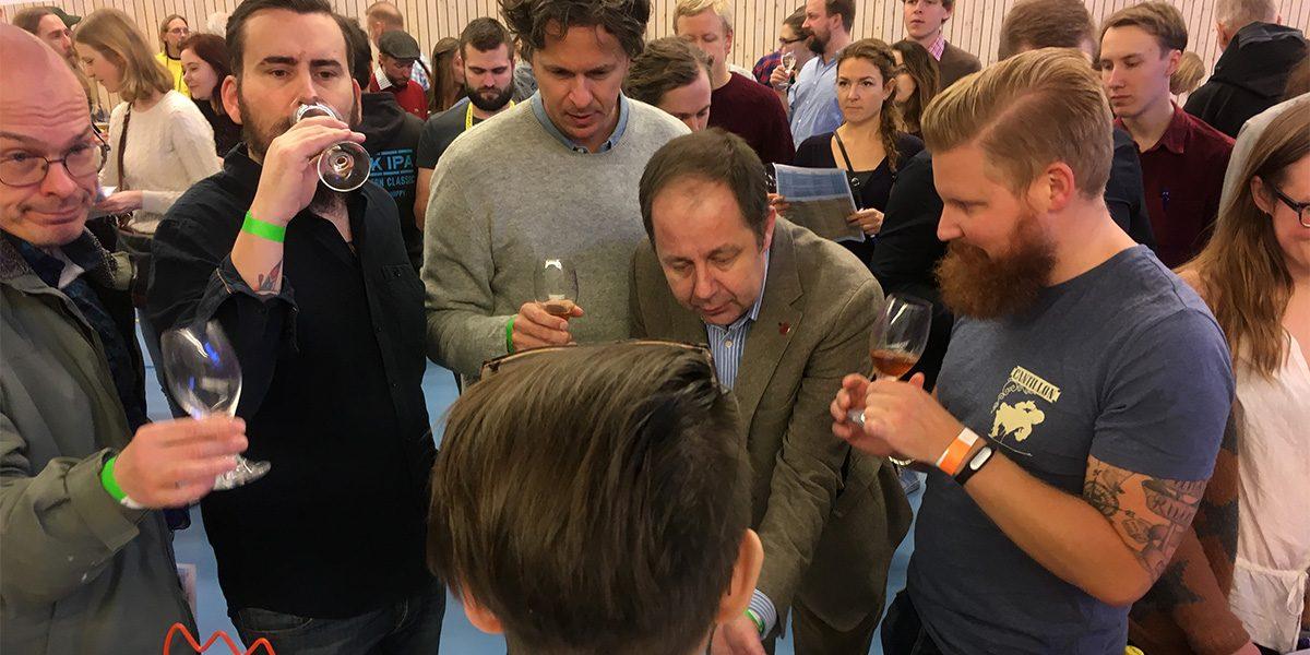 Stort intresse för Gammalt öl på Belgoträffen i Uppsala 2017 (foto: Magnus Nilsson)